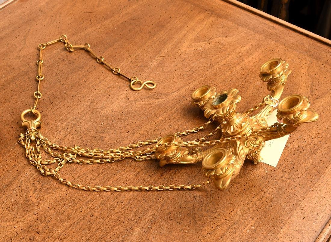 Louis Philippe gilt bronze petit chandelier - 8