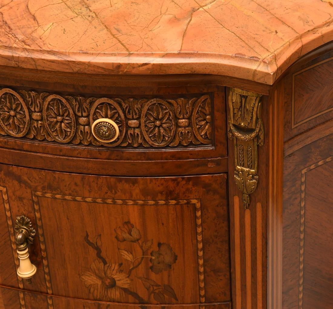 Transitional Louis XVI style marble top commode - 2