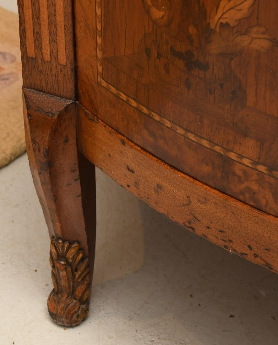 Transitional Louis XVI style marble top commode - 7