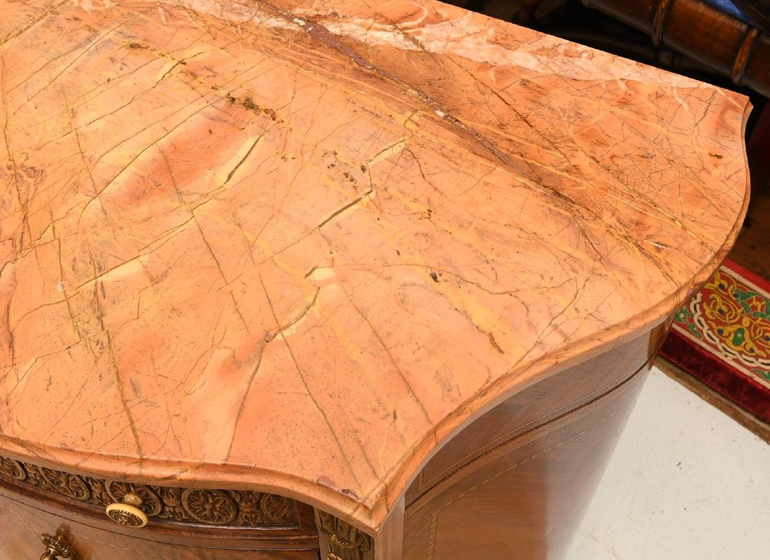 Transitional Louis XVI style marble top commode - 8