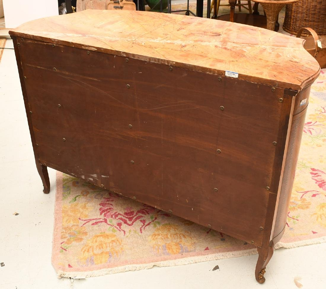 Transitional Louis XVI style marble top commode - 9
