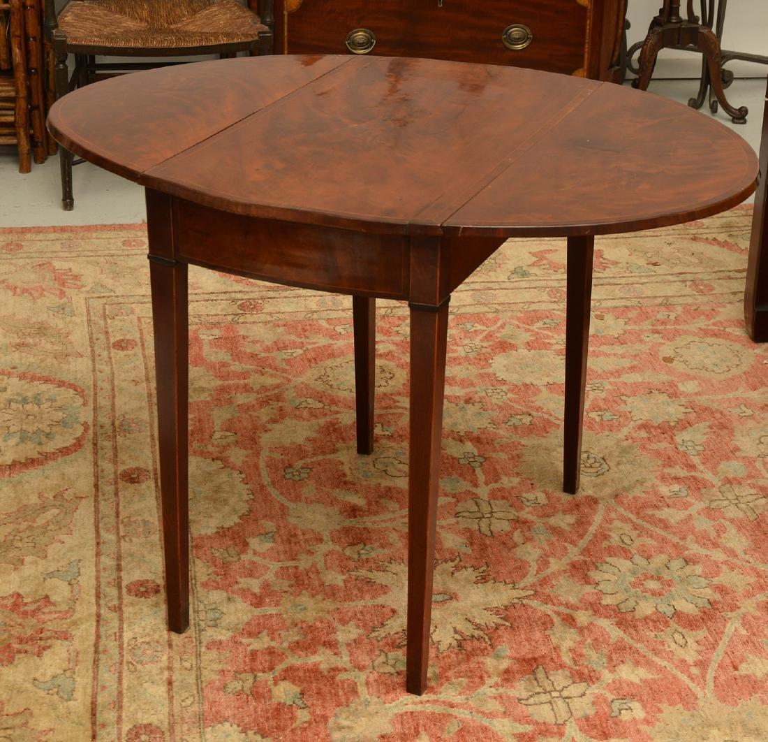 Burled mahogany pembroke table