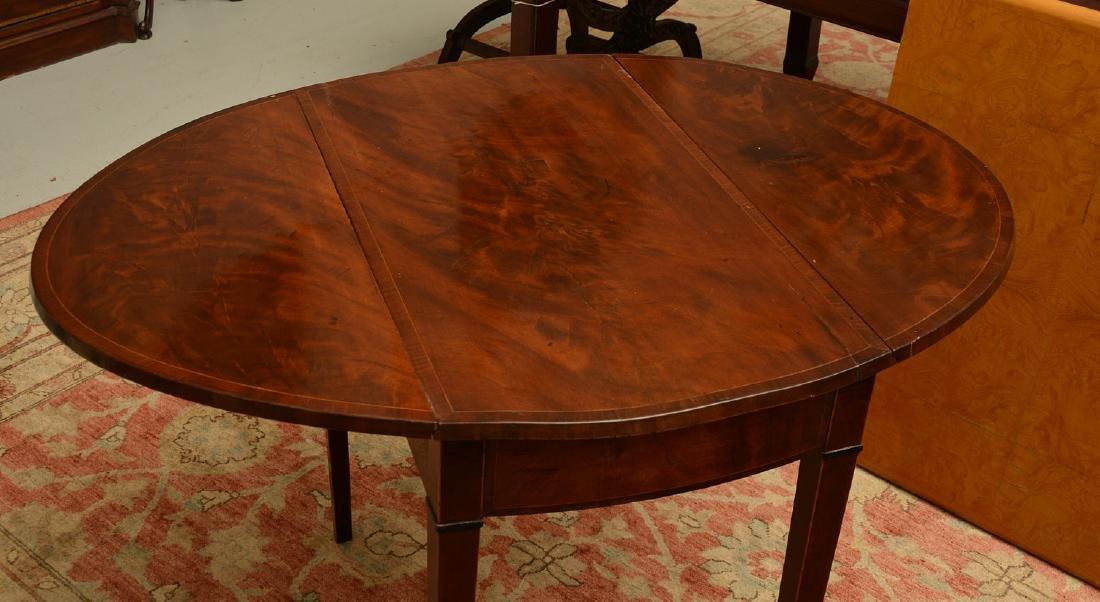 Burled mahogany pembroke table - 2