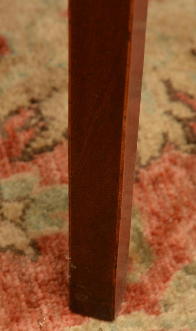 Burled mahogany pembroke table - 3
