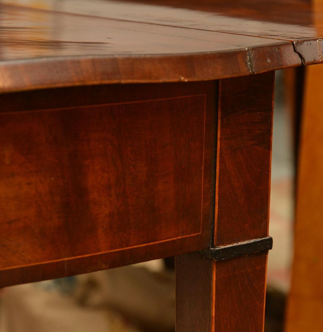 Burled mahogany pembroke table - 4