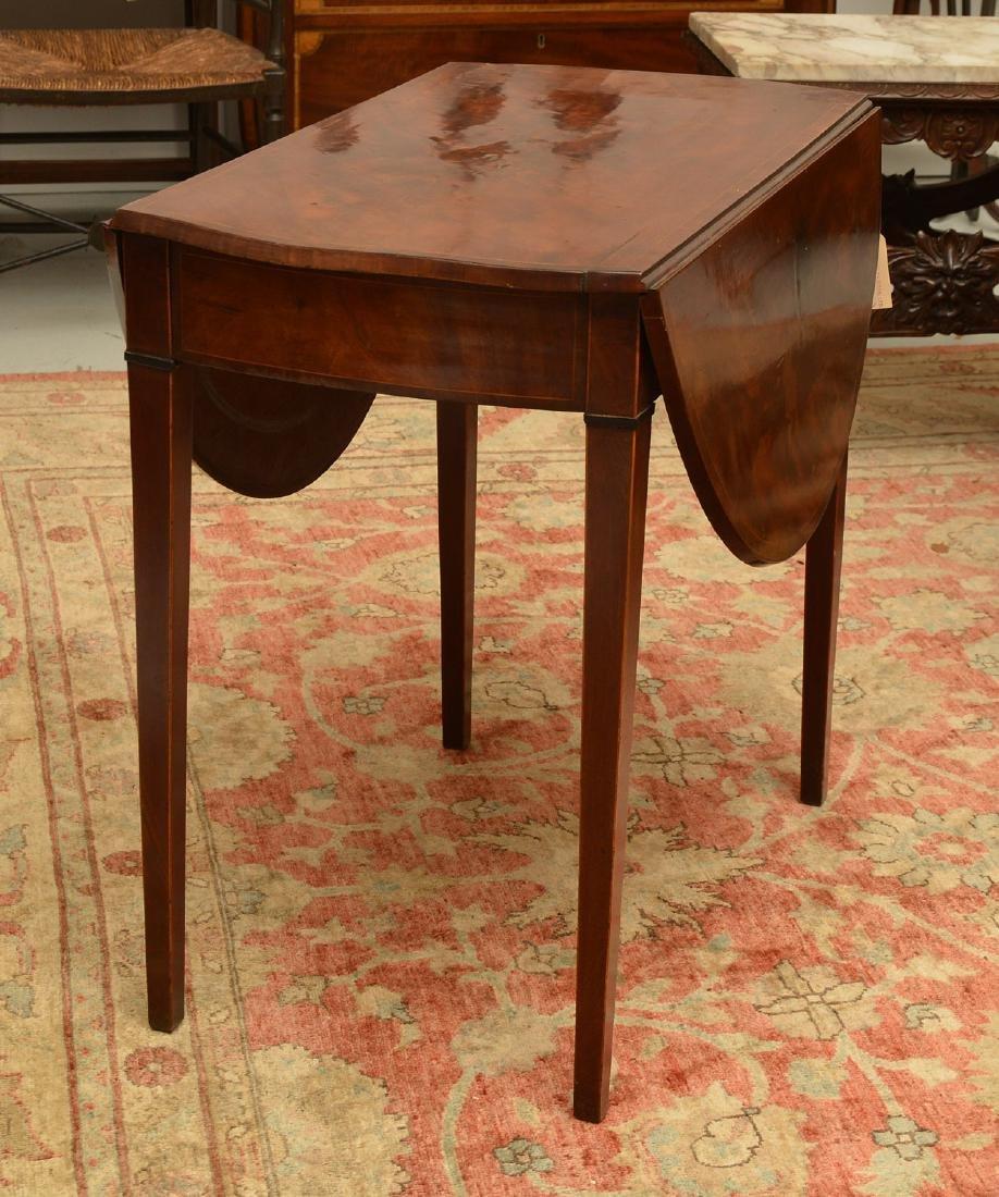 Burled mahogany pembroke table - 5