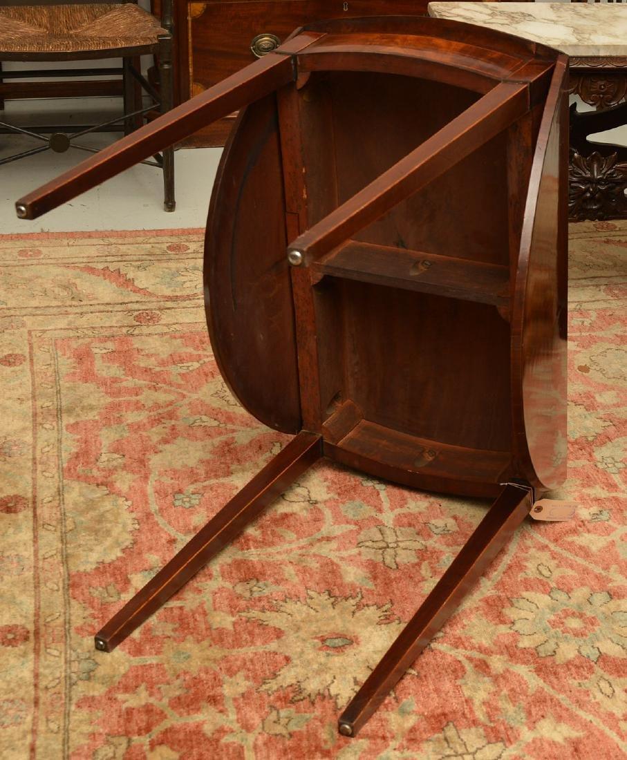 Burled mahogany pembroke table - 6