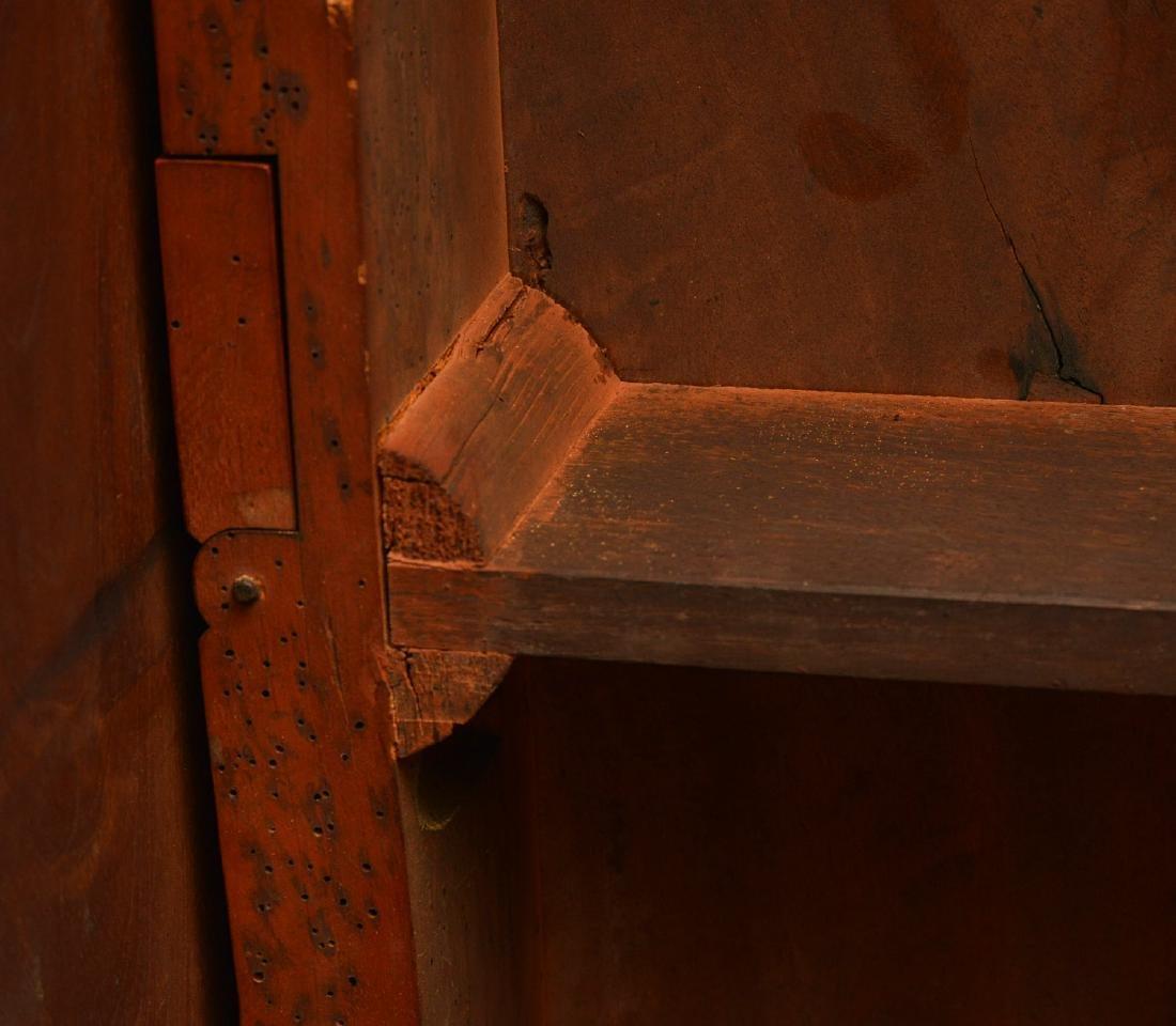 Burled mahogany pembroke table - 7