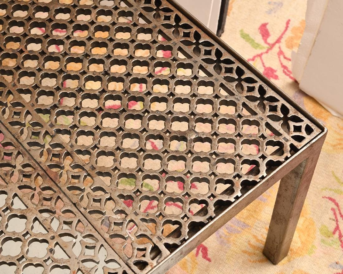 Industrial steel and iron cocktail table - 2