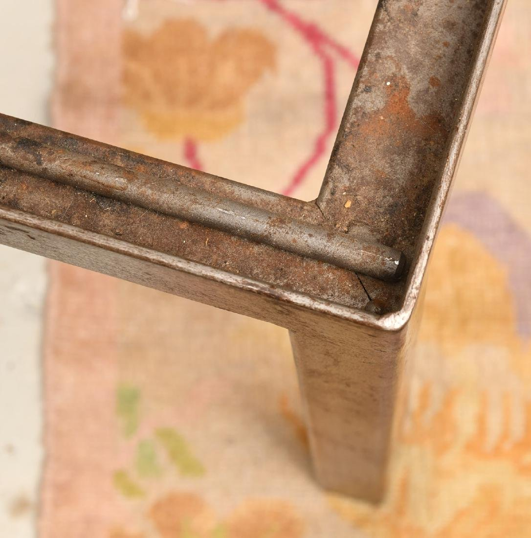 Industrial steel and iron cocktail table - 5