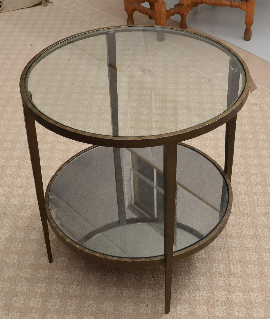 Baker smoked glass side table