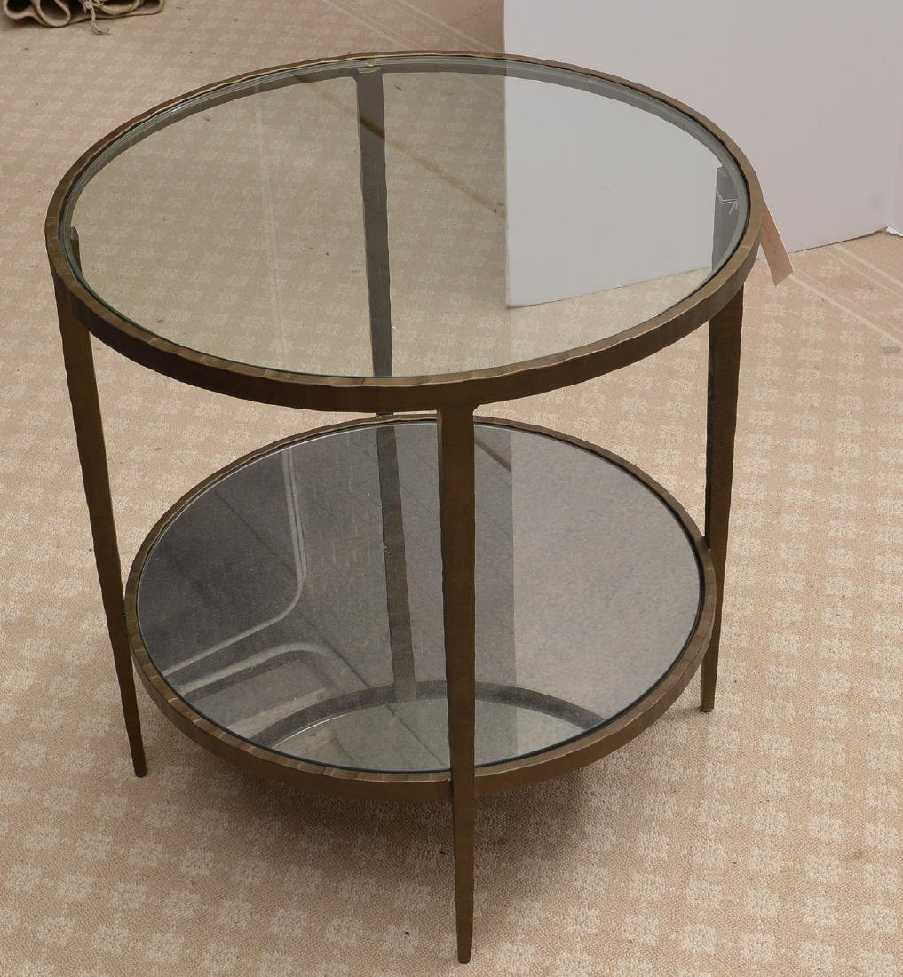 Baker smoked glass side table - 2