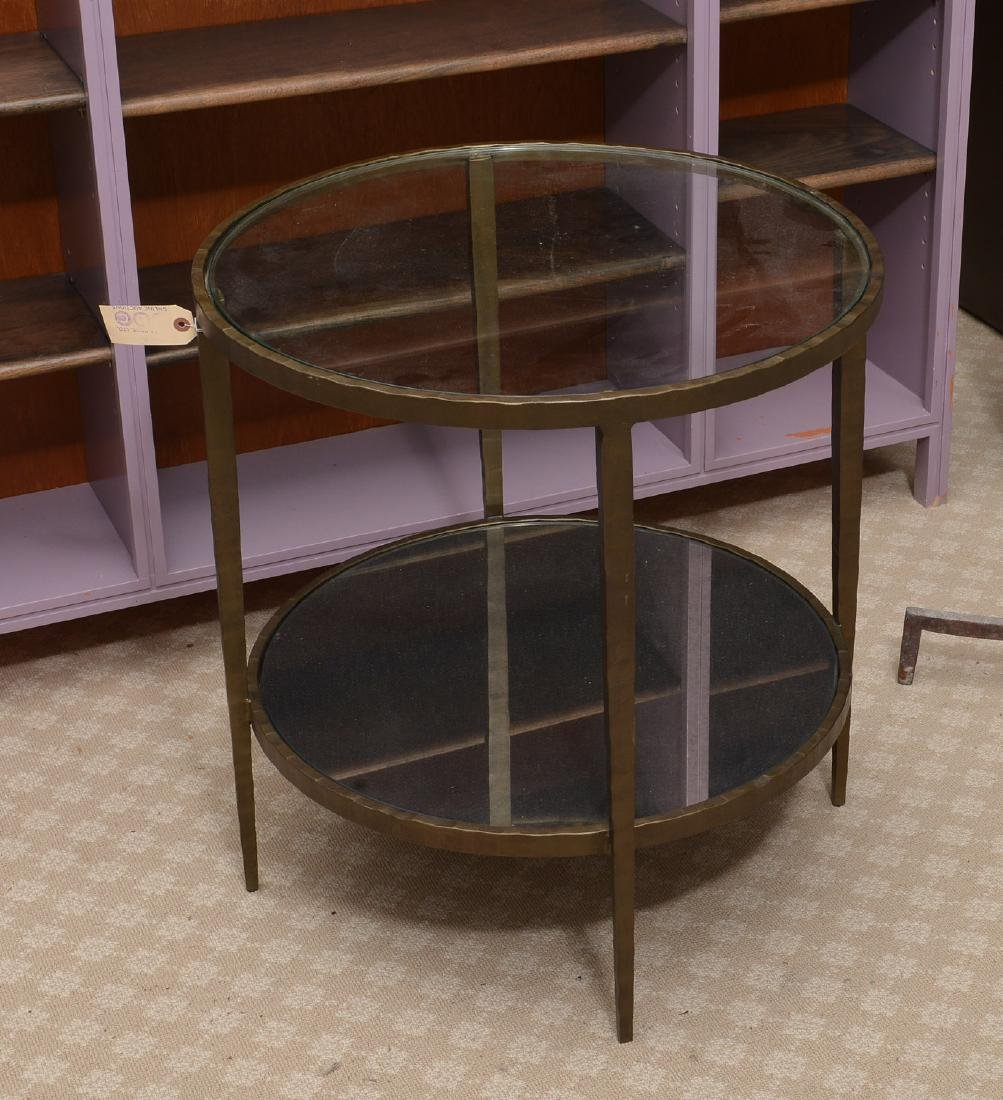 Baker smoked glass side table - 3
