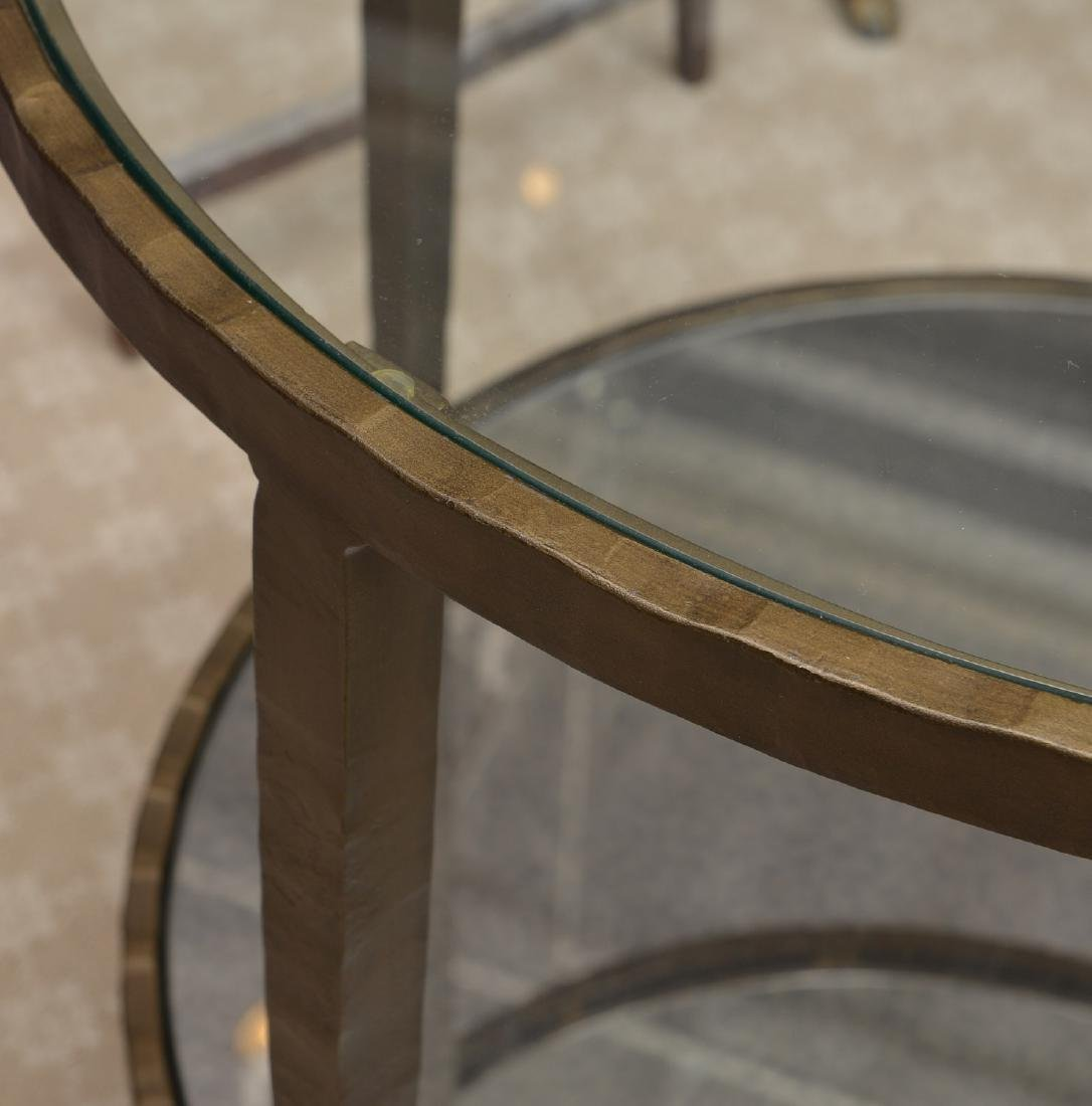 Baker smoked glass side table - 5