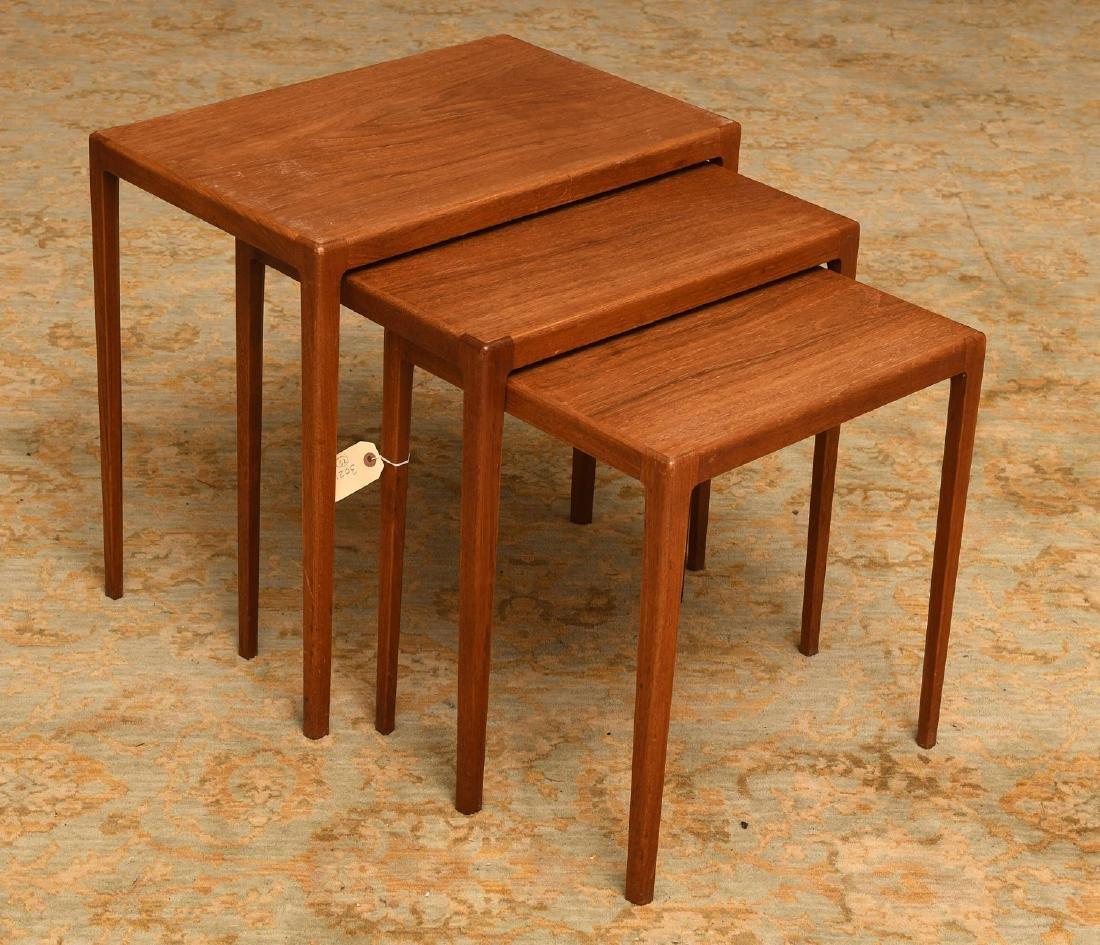 Set (3) Ludvig Pontoppidan teak nesting tables