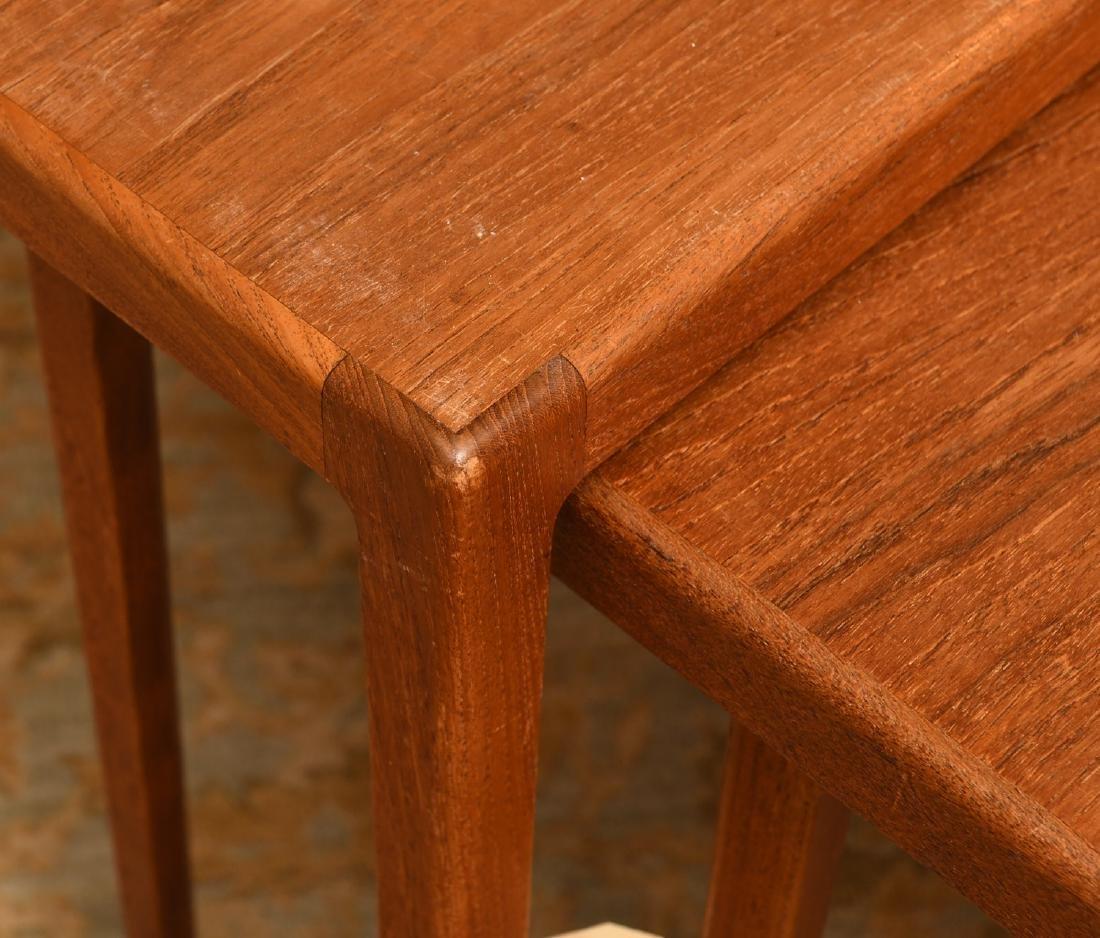 Set (3) Ludvig Pontoppidan teak nesting tables - 2