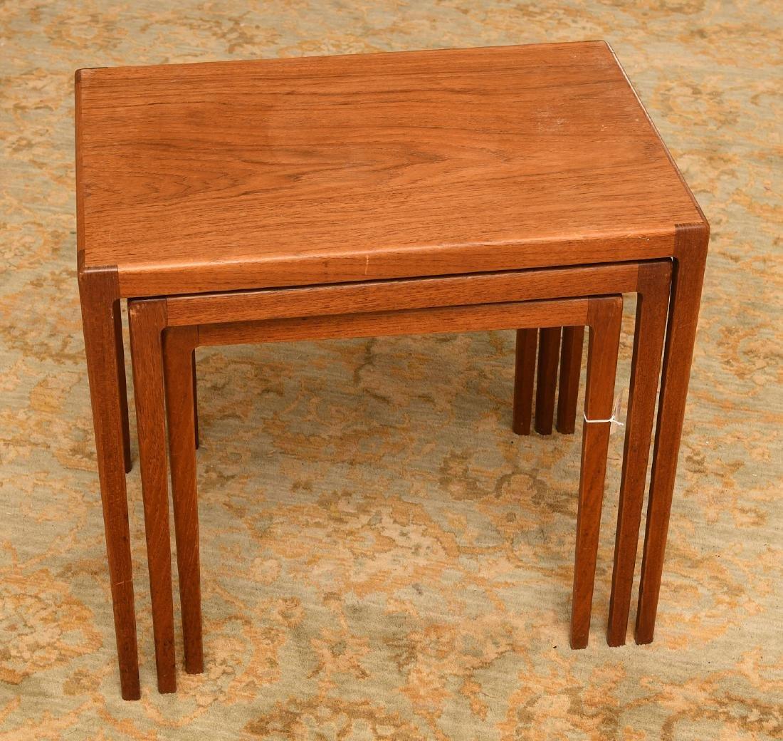 Set (3) Ludvig Pontoppidan teak nesting tables - 4