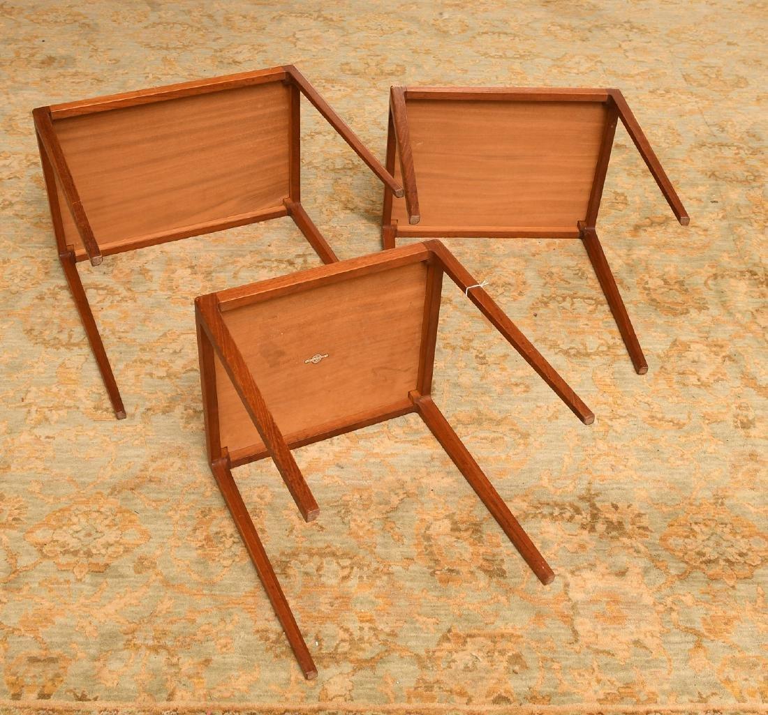 Set (3) Ludvig Pontoppidan teak nesting tables - 5