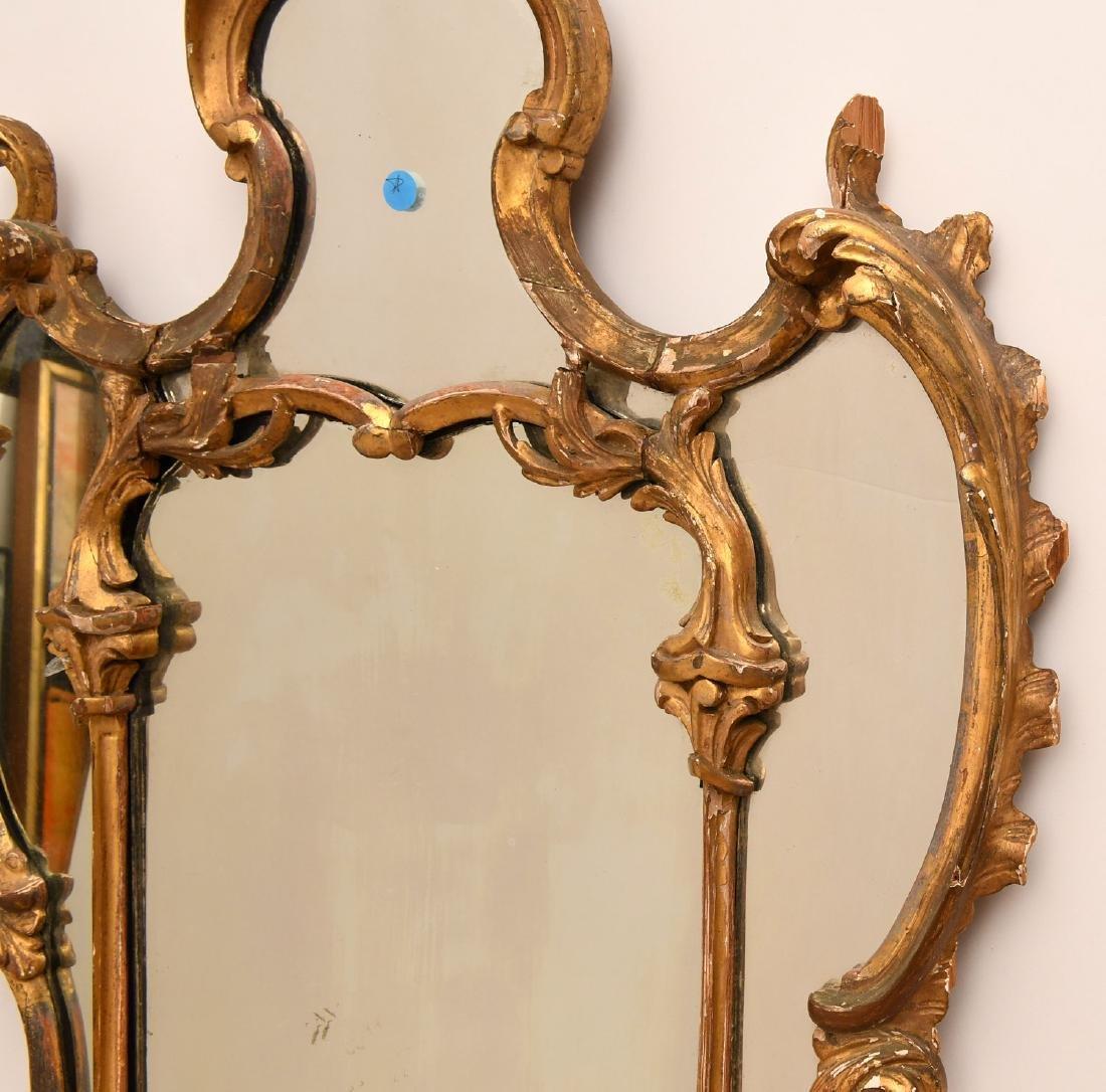 George II giltwood pier mirror - 2