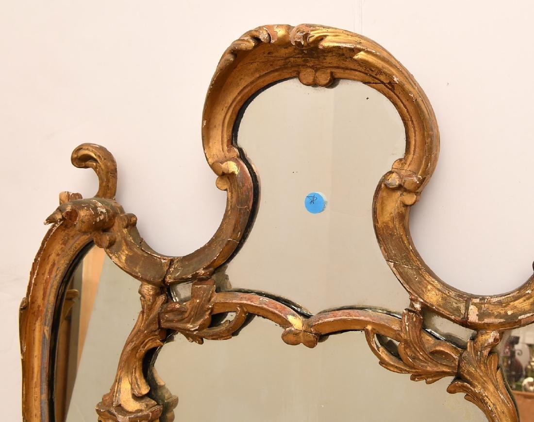 George II giltwood pier mirror - 4