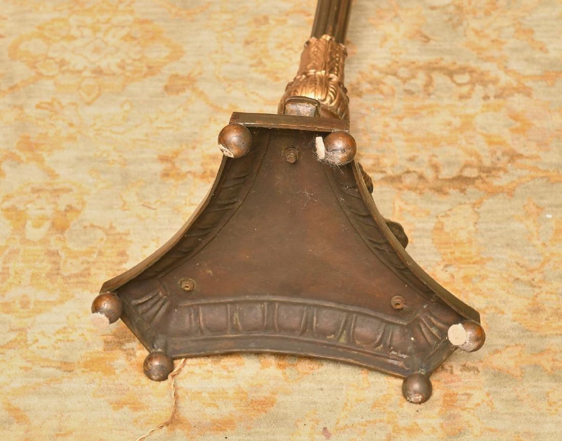 Nice Neo-Classical style gilt bronze floor lamp - 6