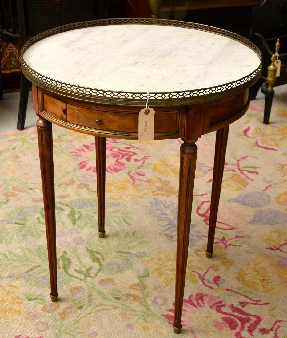 Antique Louis XVI style bouillotte table