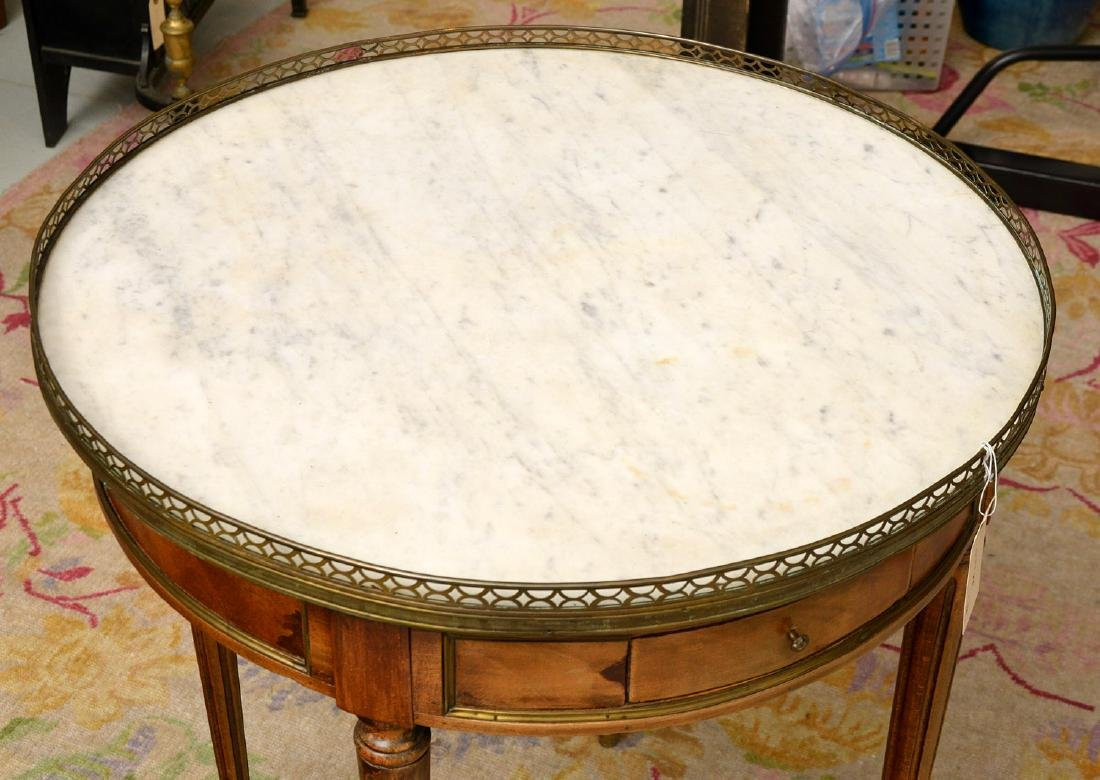 Antique Louis XVI style bouillotte table - 2