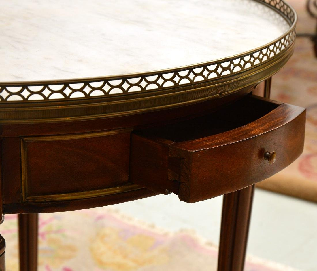 Antique Louis XVI style bouillotte table - 6