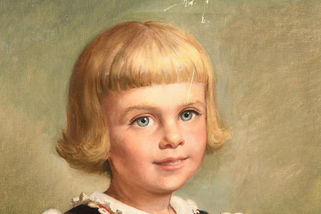 Louise Altson, (2) portrait paintings - 2