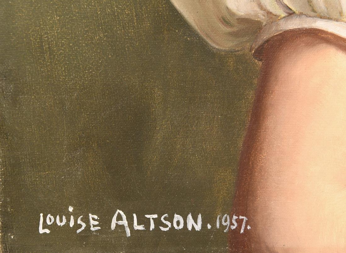 Louise Altson, (2) portrait paintings - 4