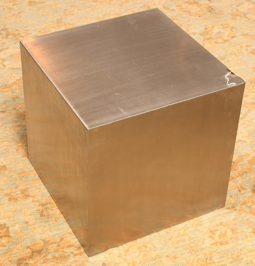 Gus Design Group stainless steel cube end table