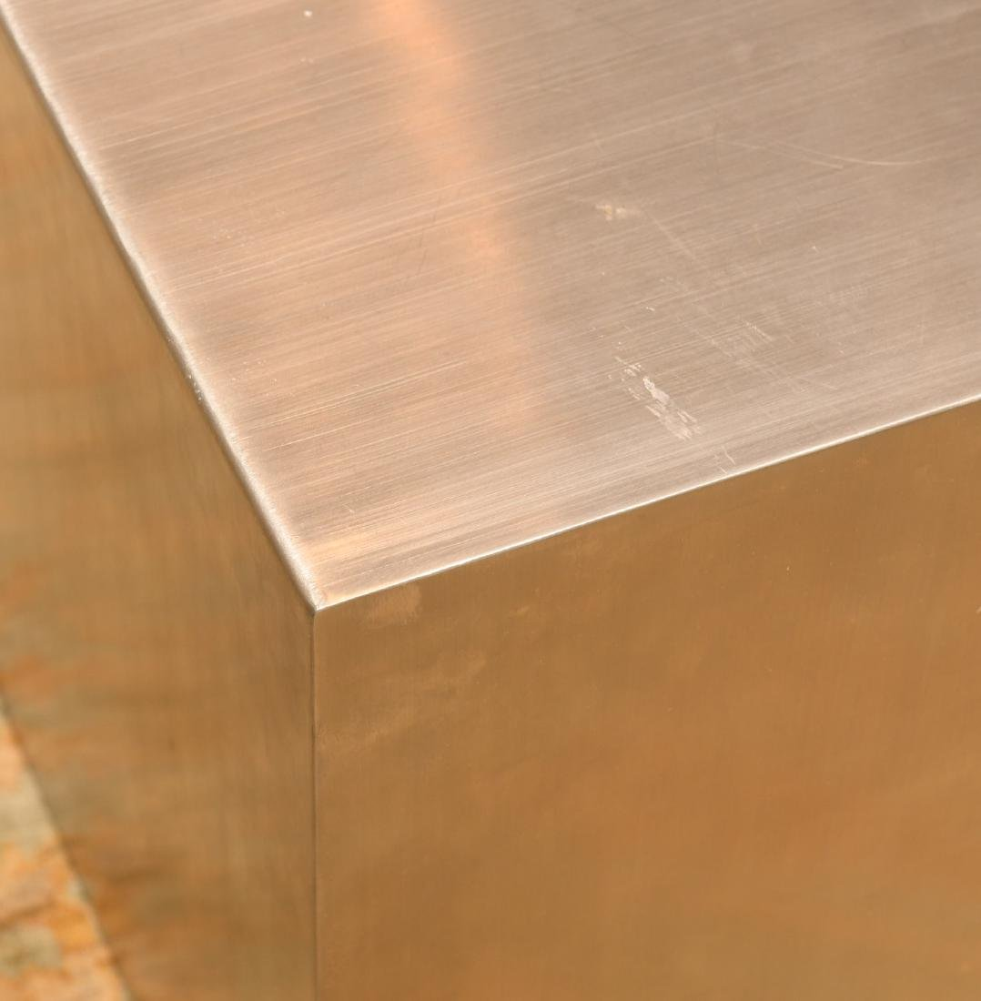 Gus Design Group stainless steel cube end table - 2