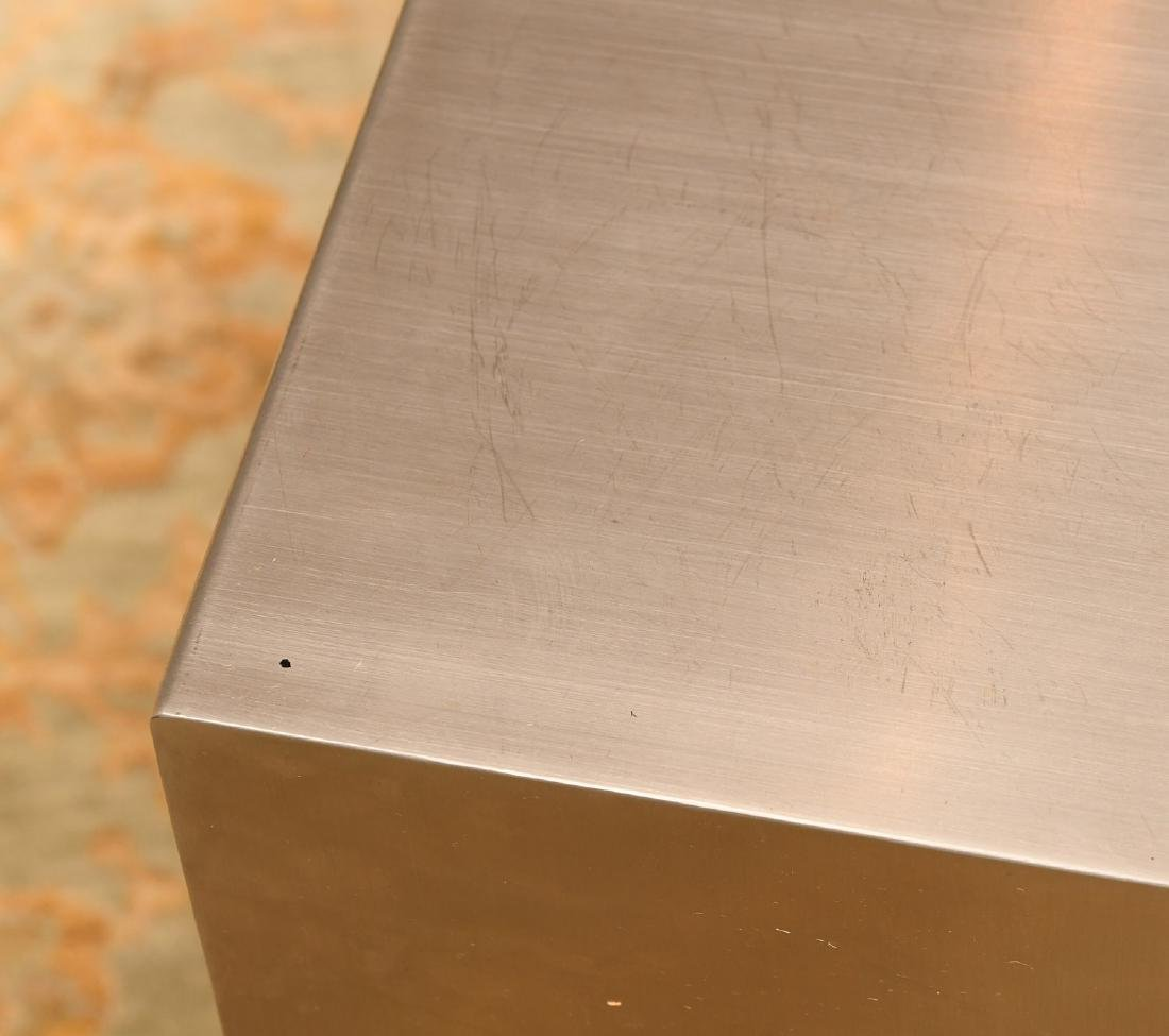 Gus Design Group stainless steel cube end table - 3