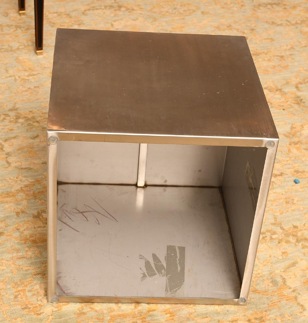 Gus Design Group stainless steel cube end table - 4