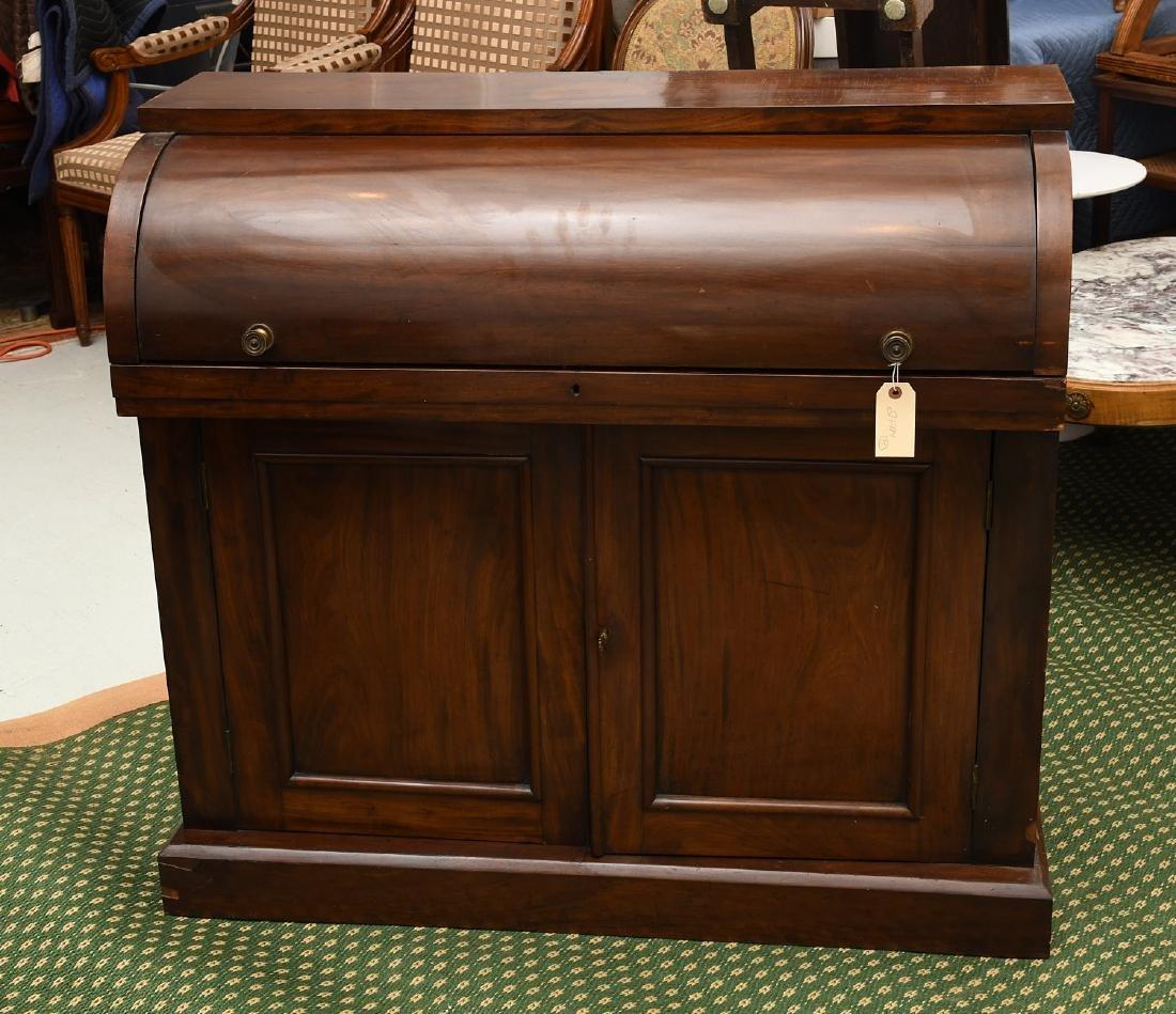 Empire mahogany cylinder desk