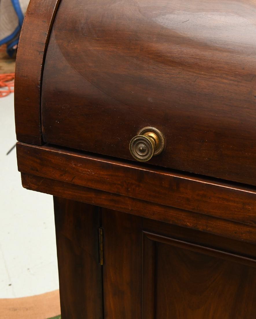 Empire mahogany cylinder desk - 2