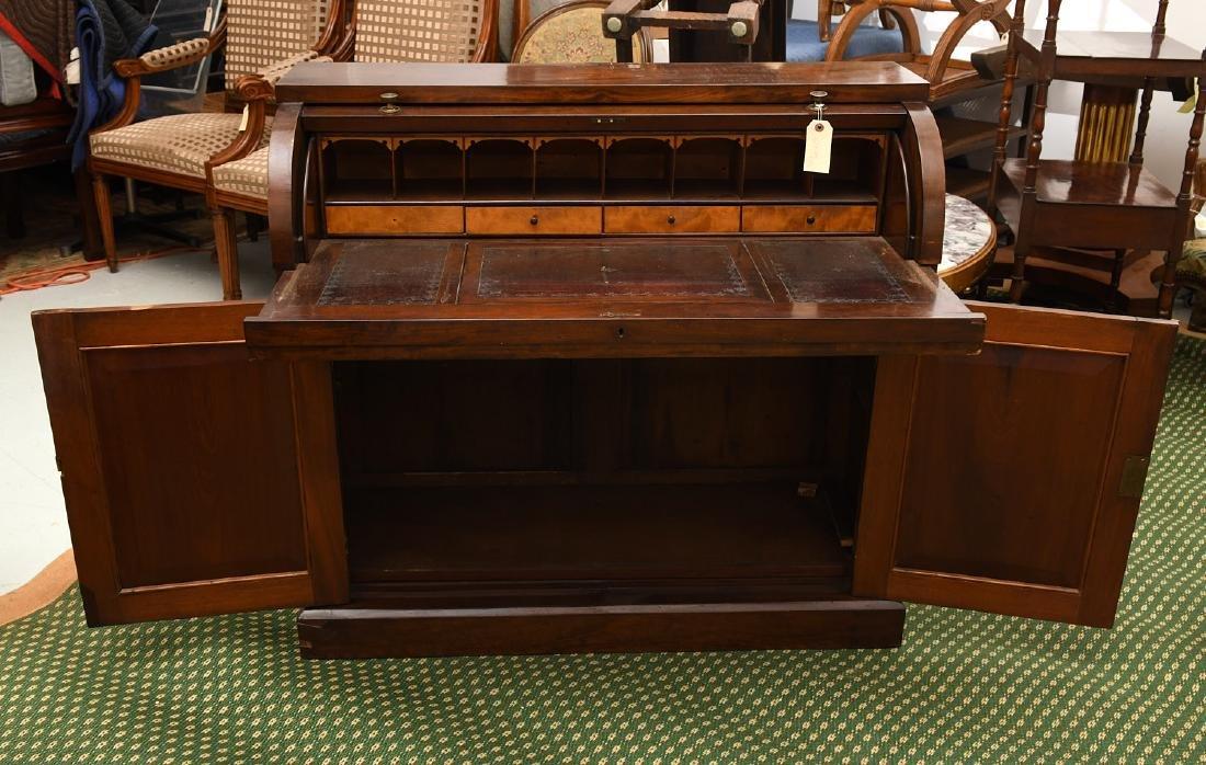 Empire mahogany cylinder desk - 3