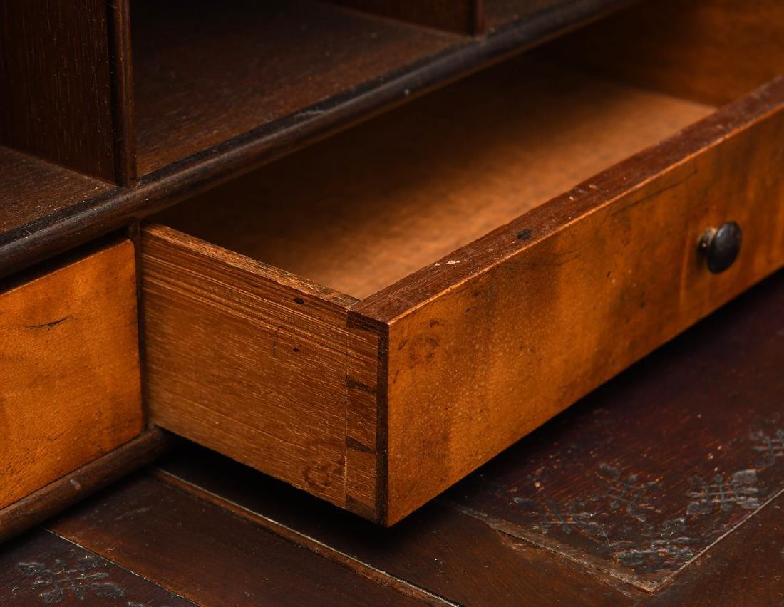 Empire mahogany cylinder desk - 5