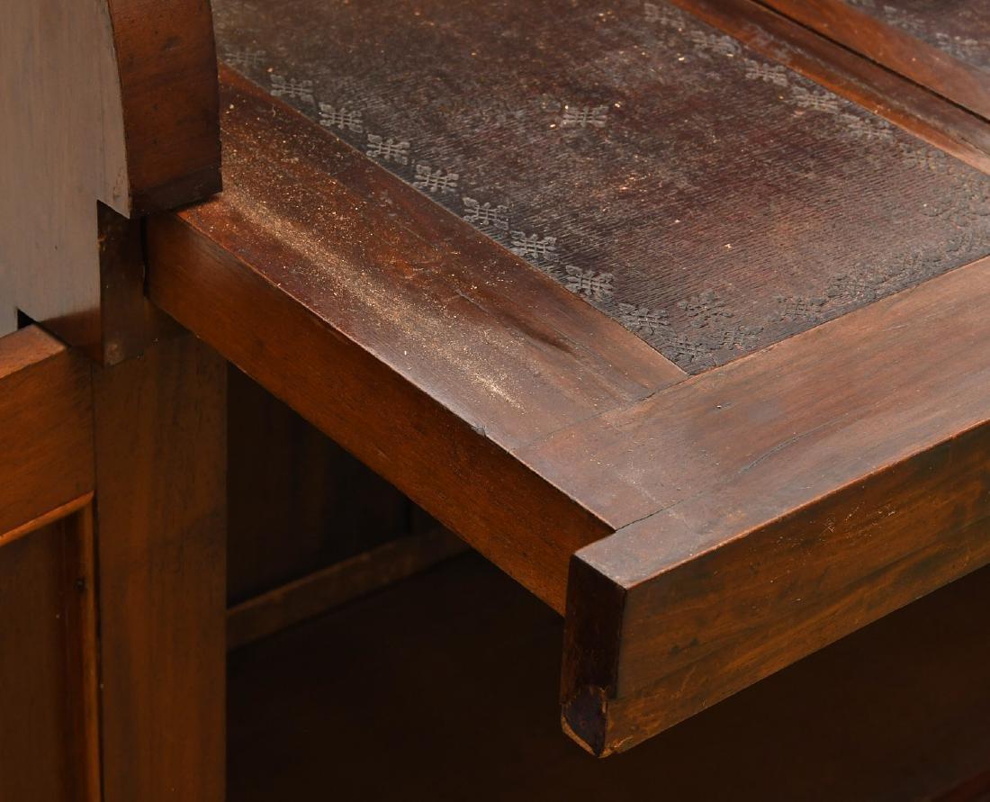 Empire mahogany cylinder desk - 6