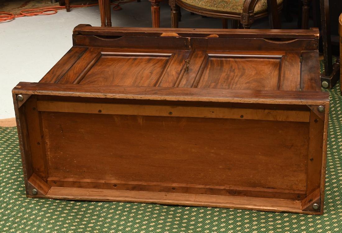 Empire mahogany cylinder desk - 9