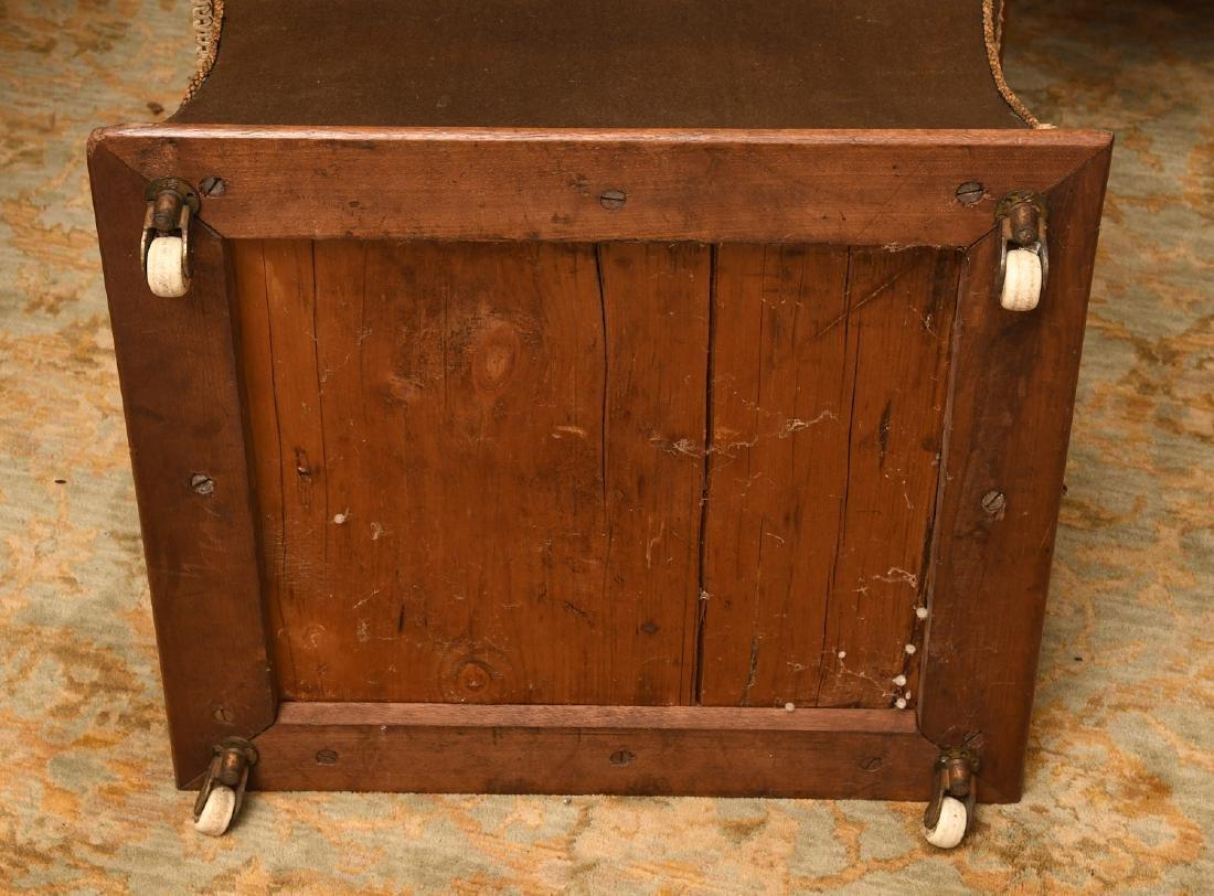 Victorian needlepoint storage ottoman - 6