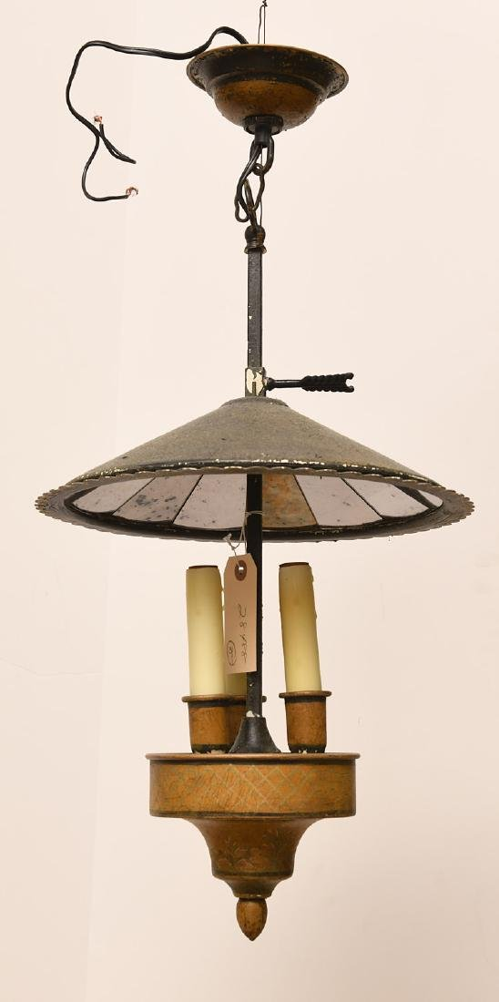 Empire style tole painted bouillotte chandelier