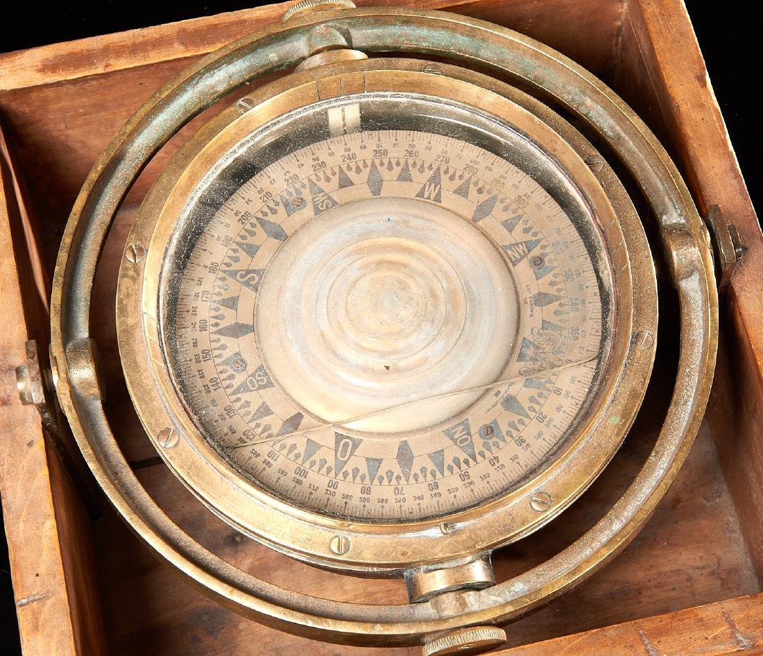 Carl Bamberg German marine ship's compass - 3