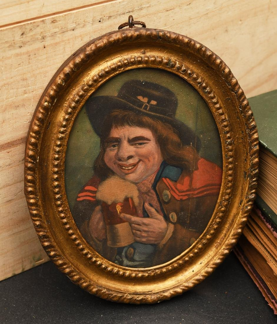 Antique Grotesque miniature portrait