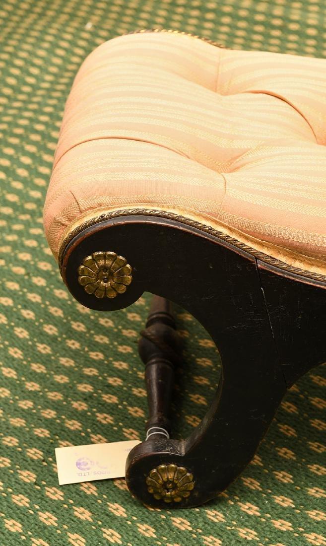 Regency style ebonized slipper chair - 2