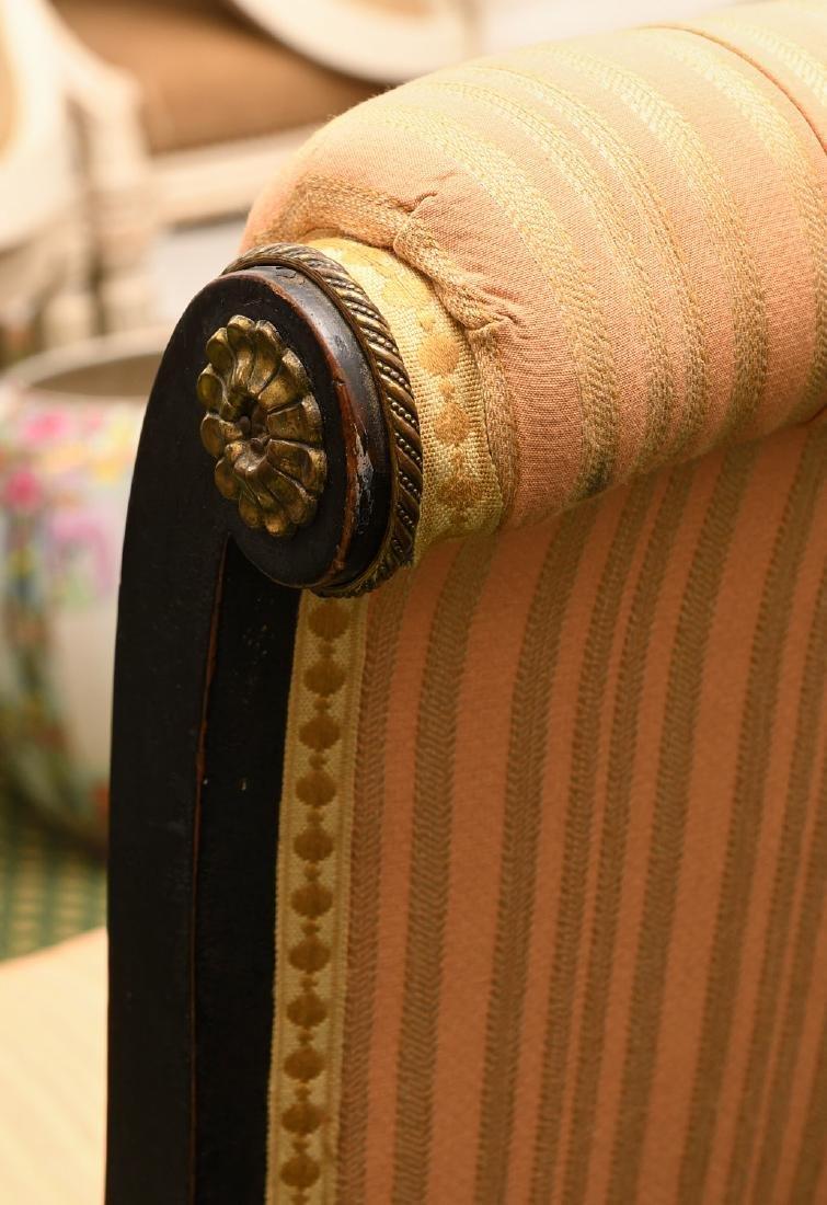 Regency style ebonized slipper chair - 3
