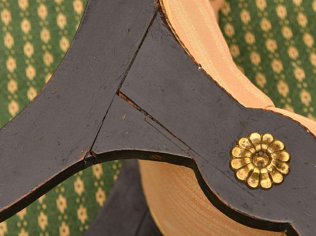 Regency style ebonized slipper chair - 7