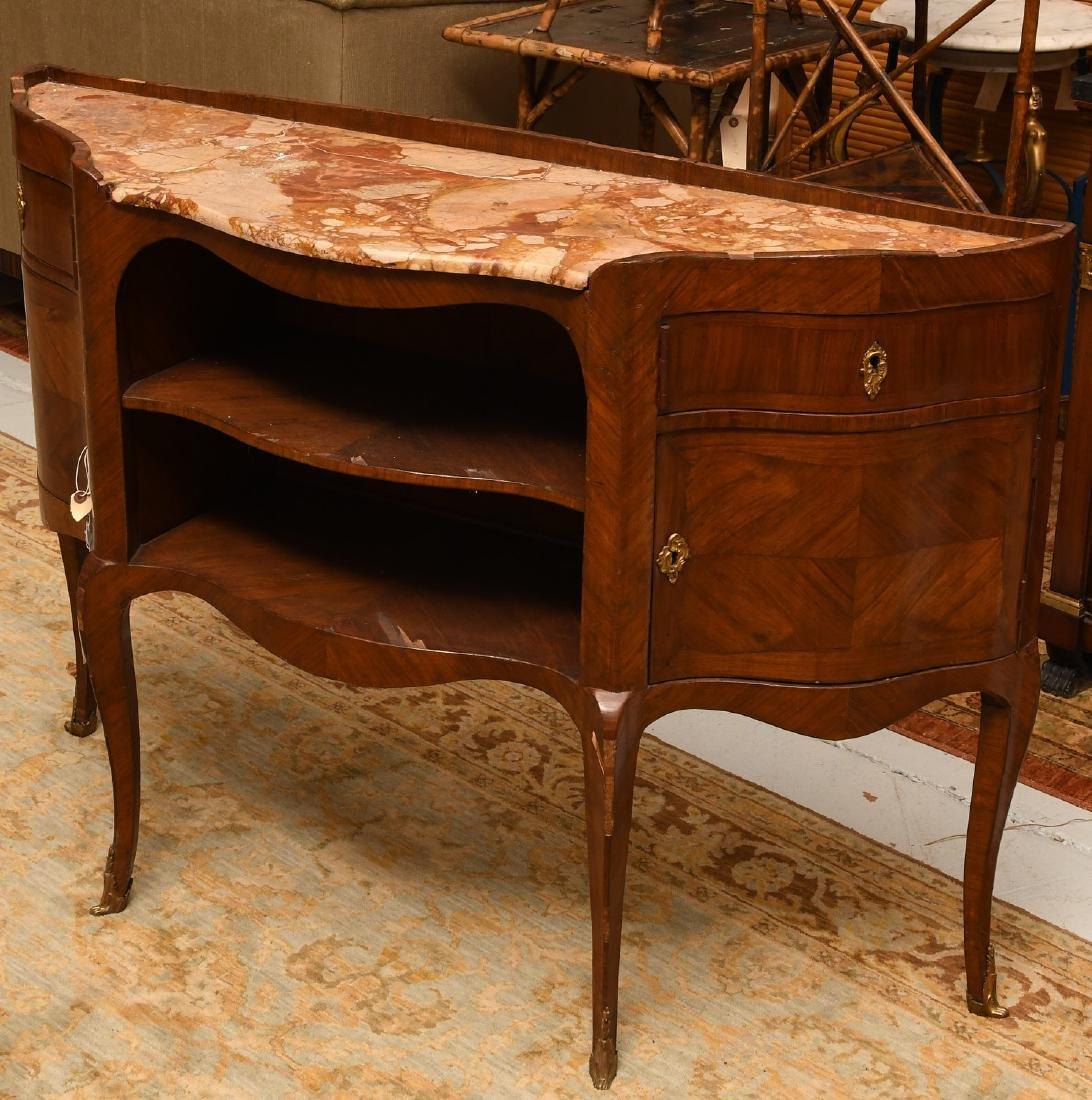 Louis XV marble top buffet