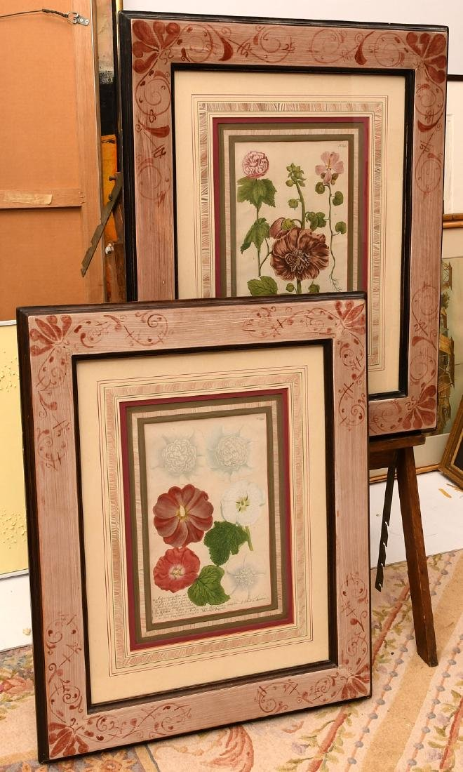 Pair highly decorative botanical prints