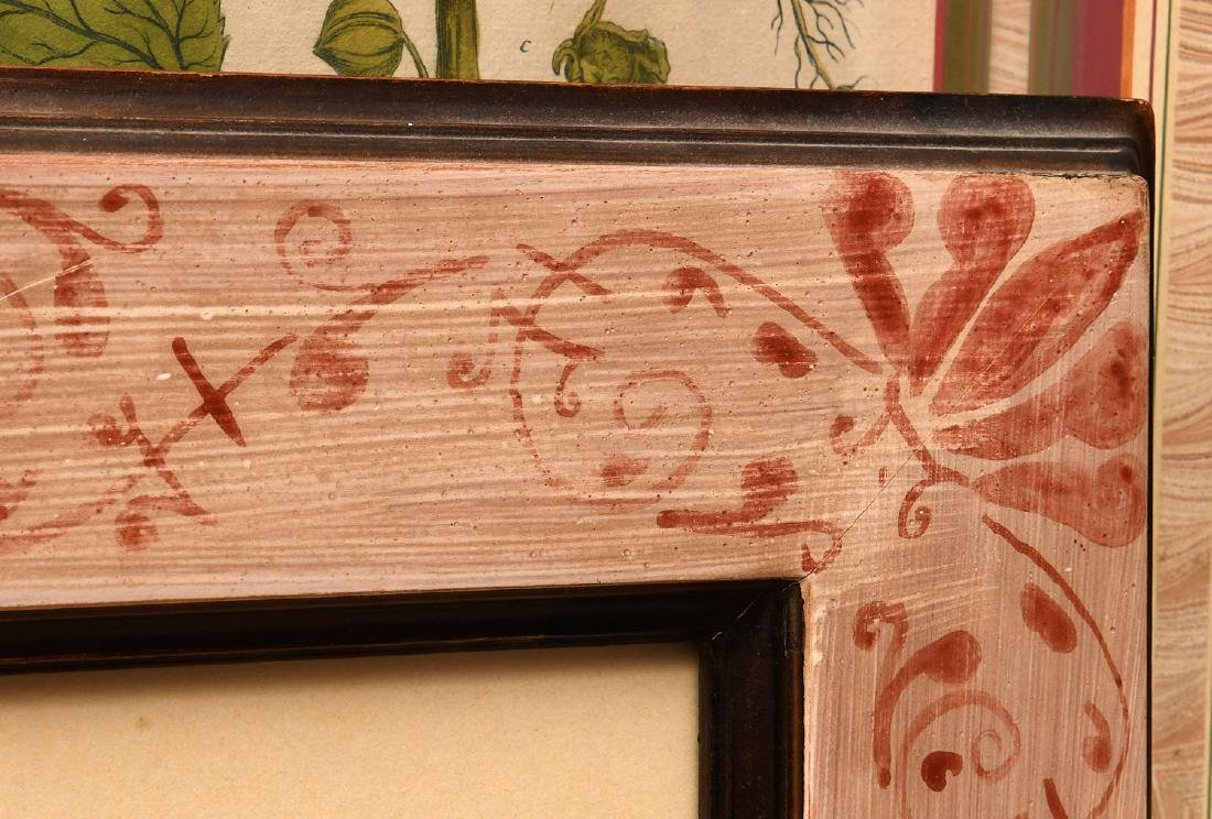 Pair highly decorative botanical prints - 9